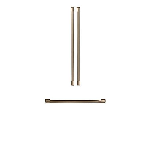 Refrigerator Handle Kit (3 Pieces) in Brushed Bronze