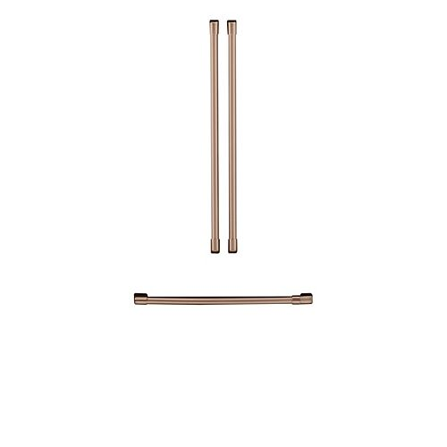 Refrigerator Handle Kit (3 Pieces) in Brushed Copper