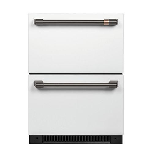 Café Kit de poignée de réfrigérateur sous le comptoir en noir brossé