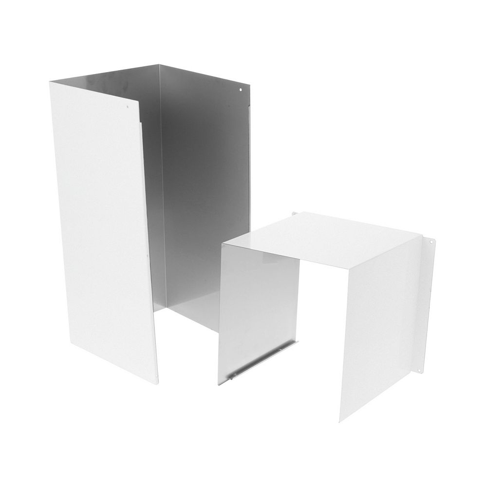 GE Duct Cover Extension Kit in Matte White