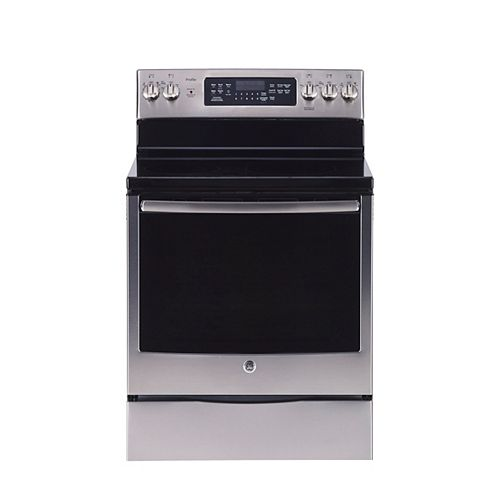30-inch W Free Standing Electric Self Cleaning True Convection Range in Stainless Steel
