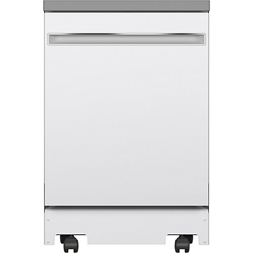 24-inch Portable Dishwasher with Stainless Steel Tub - White