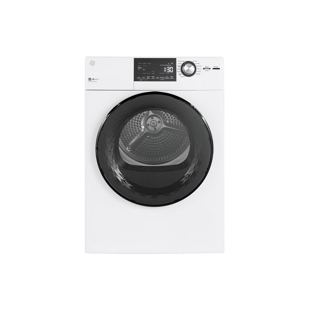 GE 4.1 cu.ft. Vented Dryer Stainless Steel Drum in White