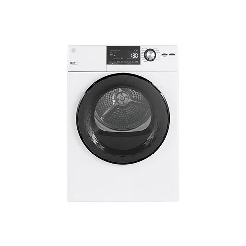 4.1 cu.ft. Vented Dryer Stainless Steel Drum in White