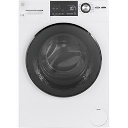 2.8 cu.ft. Stainless Steel Drum Frontload Washer in White