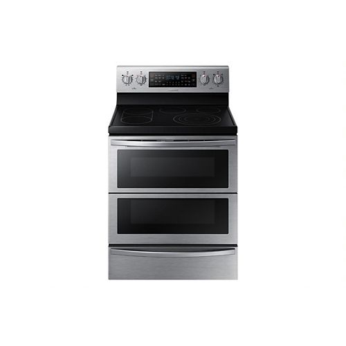 5.9 cu. ft. Double Oven Electric Range with Self-Cleaning Convection Dual Door Oven in Stainless Steel