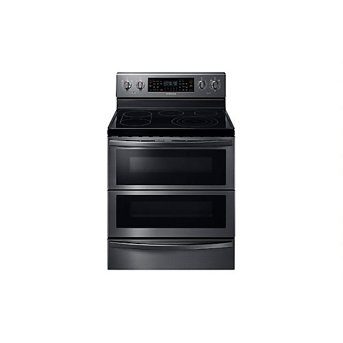 5.9 cu. ft. Freestanding Flex Duo Electric Range with Dual Door in Black Stainelss Steel