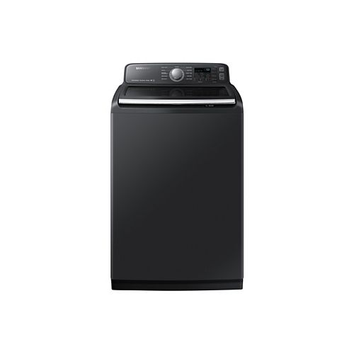 5.8 cu.ft. Top Load Washer with SmartCare in Black Stainless Steel - ENERGY STAR®