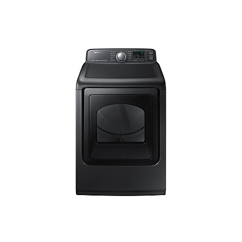 7.4 cu.ft. Electric Dryer with Steam and SmartCare in Black Stainless Steel - ENERGY STAR®