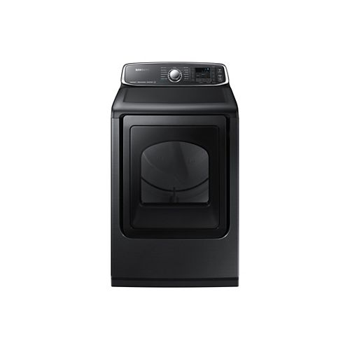 Samsung 7.4 cu.ft. Electric Dryer with Steam in Black Stainless Steel - ENERGY STAR®