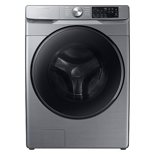5.2 cu. ft. High-Efficiency Front Load Washer with Steam in Platinum - ENERGY STAR®