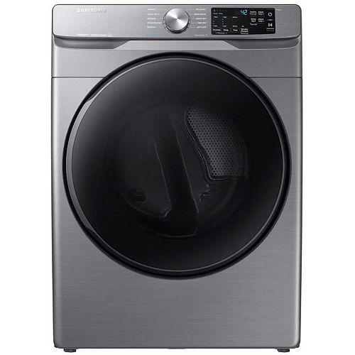 7.5 cu.ft. Electric Dryer with Steam and SmartCare in Platinum - ENERGY STAR®