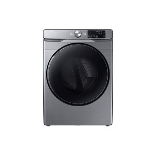 7.5 cu.ft. Gas Dryer with Steam and SmartCare in Platinum  - ENERGY STAR®