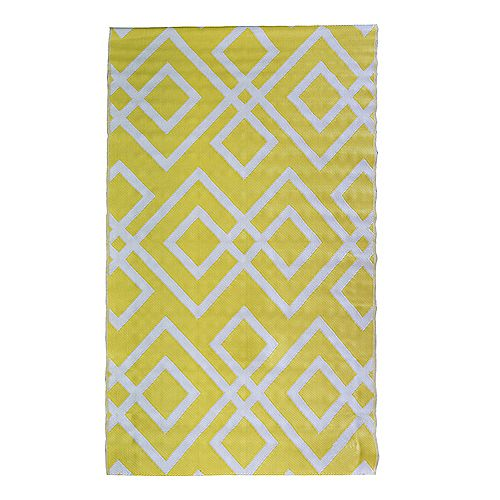 Geo Yellow 8 ft. x 12 ft. Outdoor Area Rug
