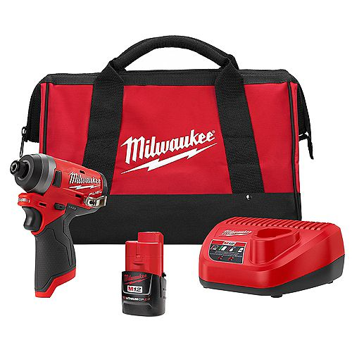 M12 FUEL 12V Li-Ion Brushless Cordless 1/4-inch Hex Impact Driver Kit w/ CP Battery & Charger