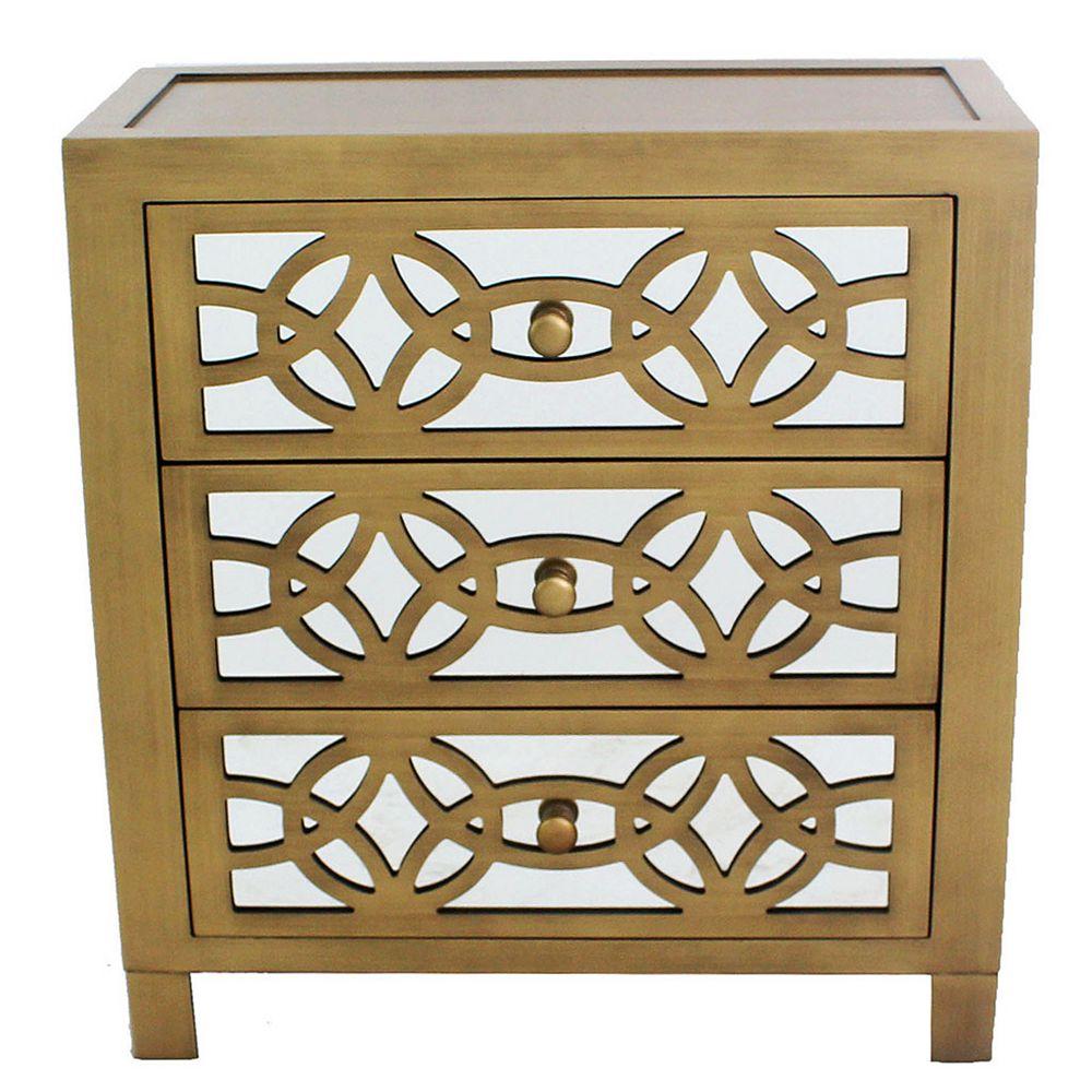 Glam Slam 20 Drawer Gold Cabinet