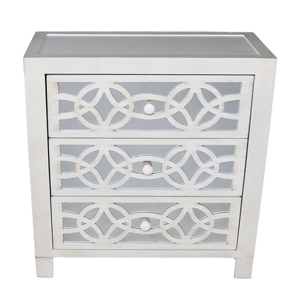 Glam Slam 20 Drawer White Cabinet