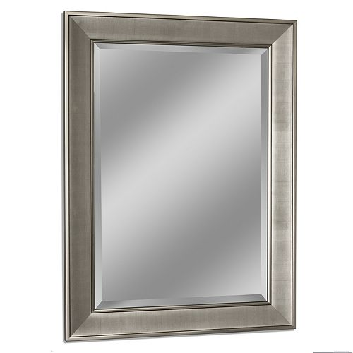 29 in. x 35 in. Brush Nickel Pave Wall Mirror