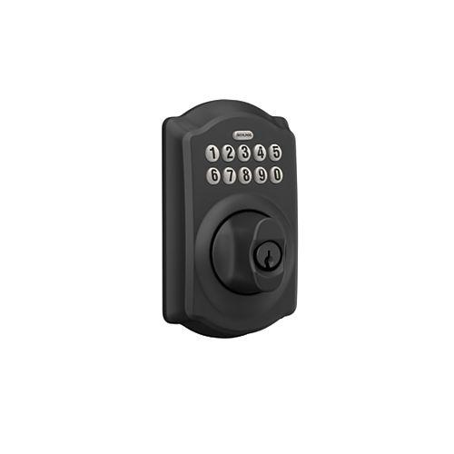 Camelot Matte Black Entry Door Keypad Electronic Door Lock Deadbolt