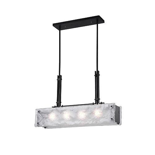 "CWI Lighting Assunta 28"" 4 Light Chandelier with Black Finish"