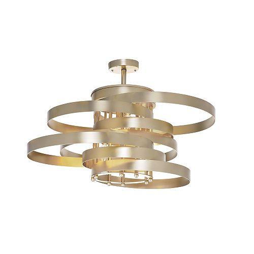 CWI Lighting 5 Light Flush Mount with Gold Leaf Finish