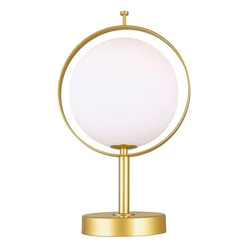 Lampe de table à 1 lumière avec fini laiton