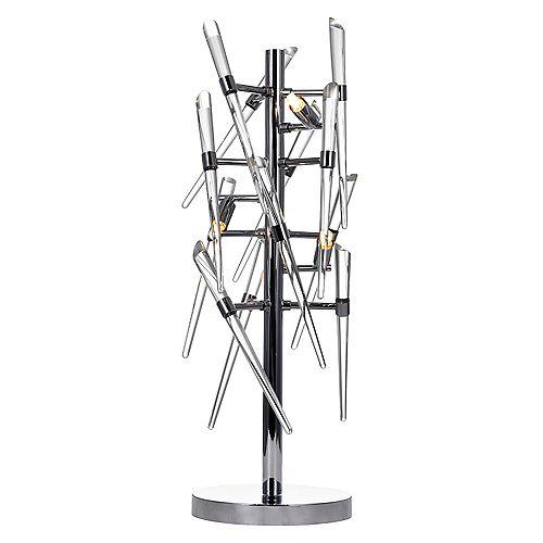 Lampe de table à 3 lumières avec fini chrome