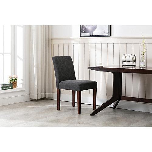 Dark Grey Linen Dining Chair (2-pack)