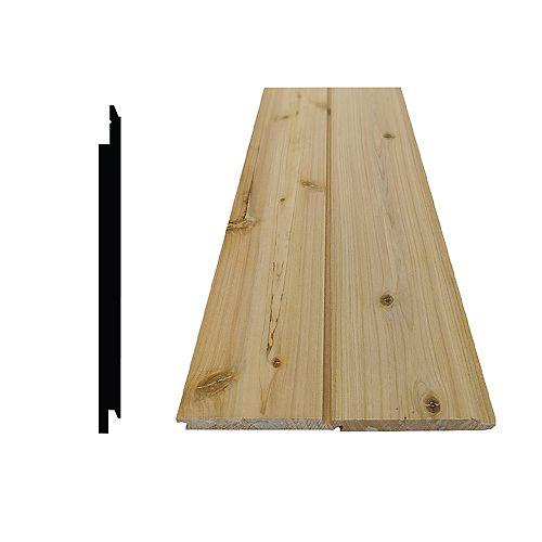 Zedernholz-Verschiebepaneele ¼-zoll x 5 ¼-zoll x 96-zoll