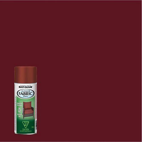 Outdoor Fabric Spray Paint in Dark Red, 340 G Aerosol