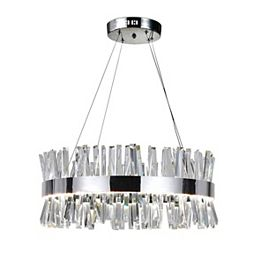 Faye 26 inch Round LED Chandelier with Chrome Finish