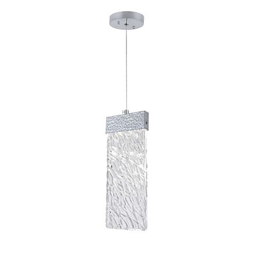 CWI Lighting Carolina 5 inch Long LED Pendant with Pewter Finish