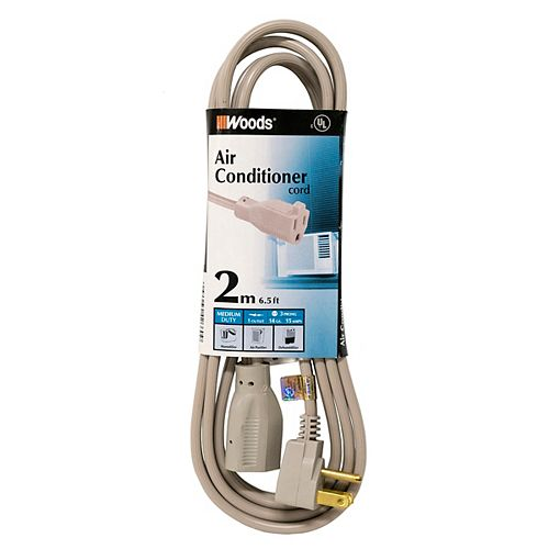 14/3 6 ft. Gray Appliance Cord for Tight Spaces