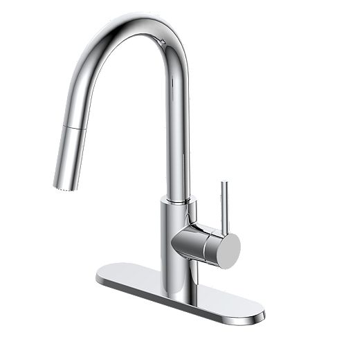 Haisley Single-Handle Pull-Down Kitchen Faucet in Chrome