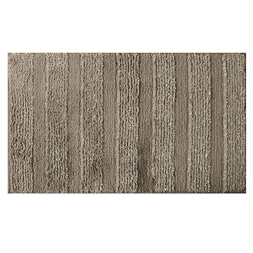 20-inch x 34-inch Gray Polyester Bath Mat
