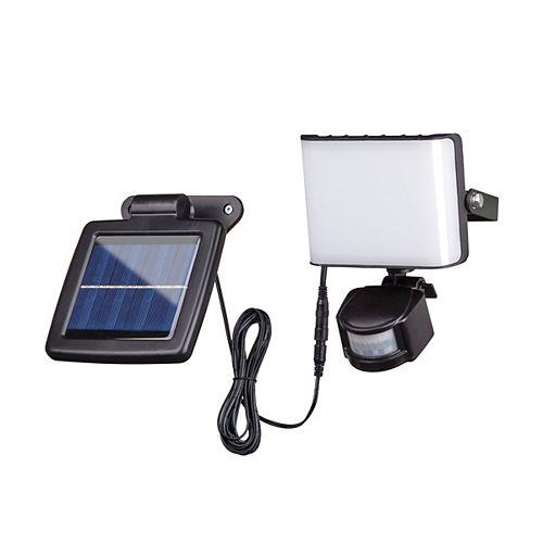 DEFIANT 10-Watt Black Finish Motion Sensor Solar Powered Integrated LED Security Light