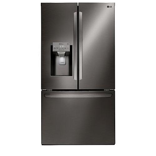 Réfrigérateur de 22 pi³ à profondeur de comptoir doté d'une porte à deux battants et muni du Wi-Fi