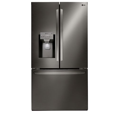 36-inch W 22 cu. ft. French Door Smart Refrigerator with Wi-Fi in Black Stainless Steel, Counter-Depth - ENERGY STAR®