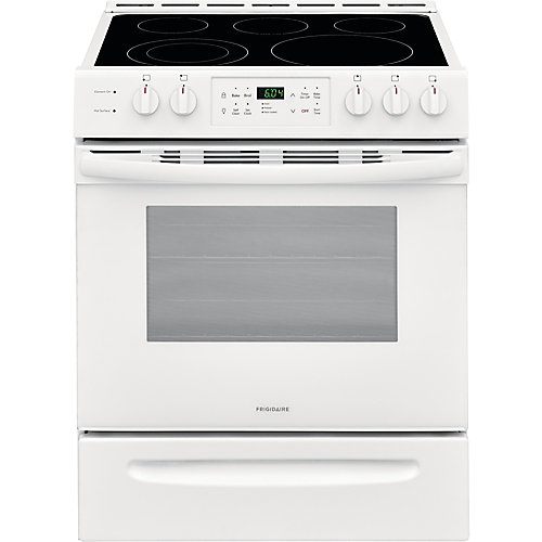 30-inch 5.0 cu. ft. Freestanding Electric Range in White