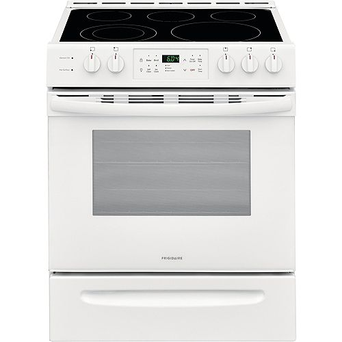 30-inch 5.0 cu. ft. Front Control Freestanding Electric Range with Self-Cleaning Oven in White