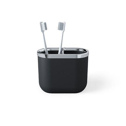 Junip Toothbrush Holder Chrome/Black