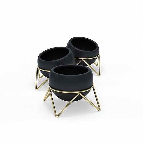 Umbra Potsy 3 Planteur Noir/Brass