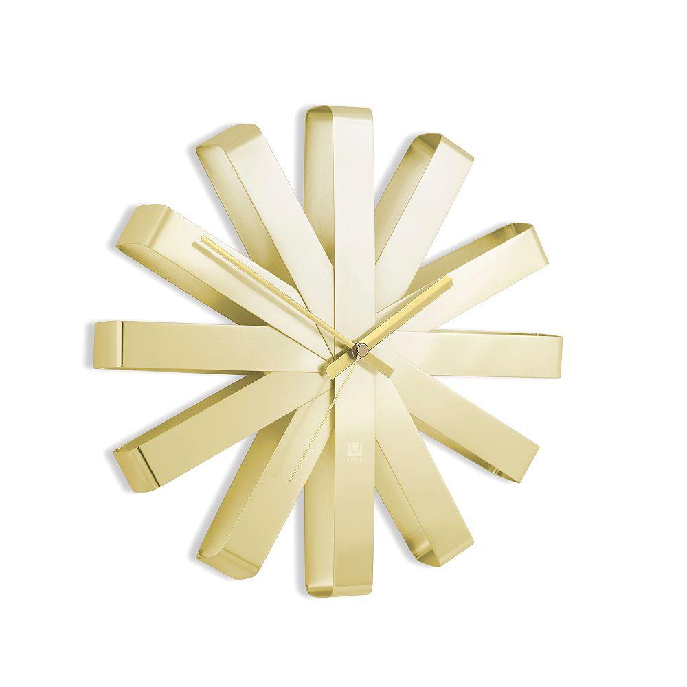 Umbra Ribbon Wall Clock 12In Gold