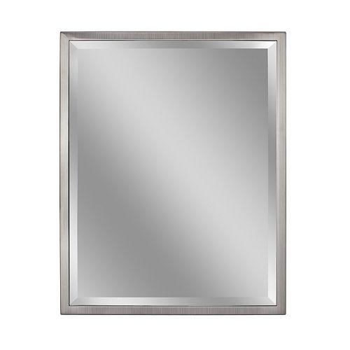 30 in. x 40 in. Classic Brush Nickel Wall Mirror