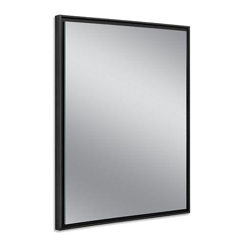 24 in. x 30 in. Black Studio Float Wall Mirror