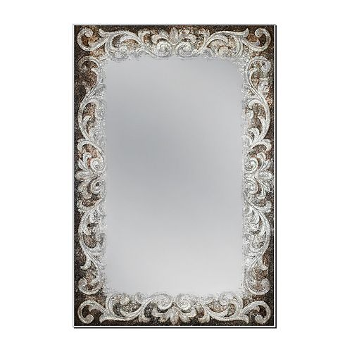 24 in. x 36 in. Auburn Tapestry Wall Mirror