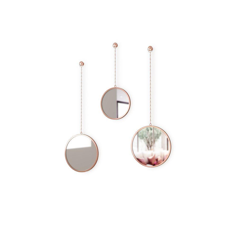 Umbra Dima Round Mirror Copper
