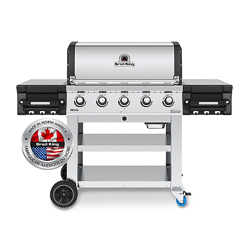 Regal S520 Commerical 5-Burner 55,000 BTU LP Gas Grill