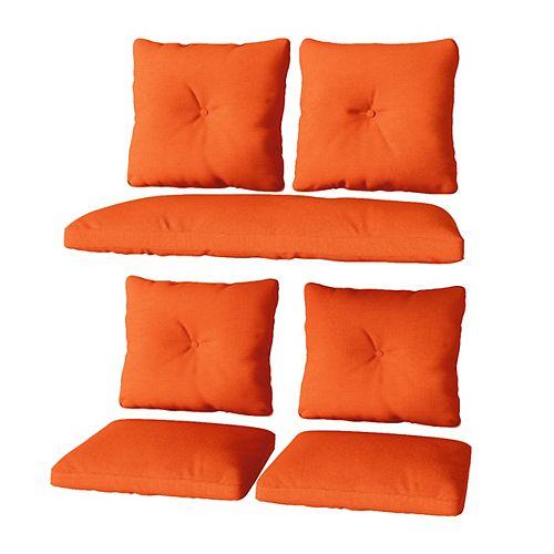 Orange Replacement Cushion Set