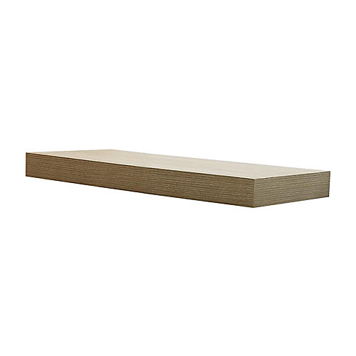 24 inch Grey Oak Floating Shelf